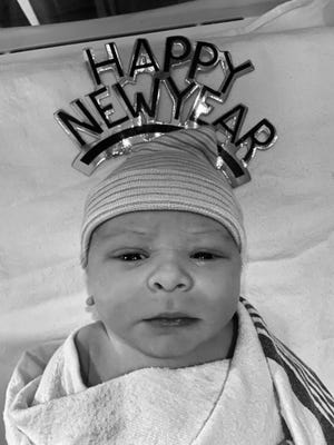 Levi James Stouffer was born at 12:42 a.m. on Jan. 1, 2020.