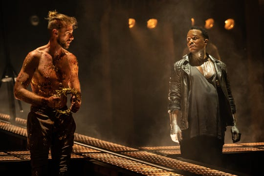 "James Delisco Beeks and Aaron LaVigne in the North American Tour of ""Jesus Christ Superstar."""