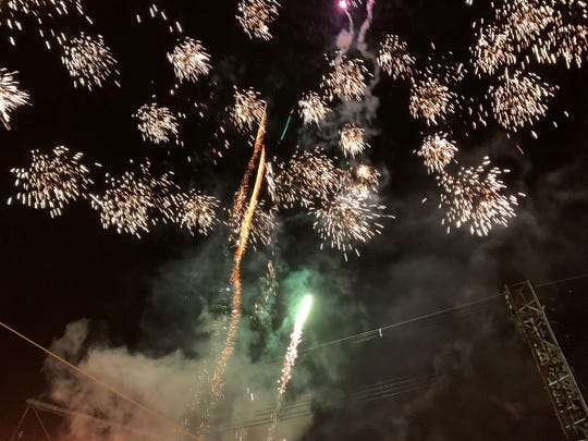 Fireworks filled the sky just after midnight on Wednesday, Jan. 1, 2020, as Marion County celebrated the New Year. A good crowd gathered at Founders Park in downtown Marion on New Year's Eve to ring in 2020 with music and the annual ball drop sponsored by Downtown Marion, Inc.
