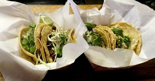 Tacos from Mas Tacos.
