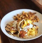 Breakfast tacos at Earnest Bar & Hideaway.