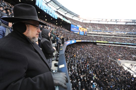 Tens of thousands of Jews attended the 13th Global Siyum HaShas, which  took place at MetLife Stadium, in East Rutherford. Wednesday, January 1, 2020
