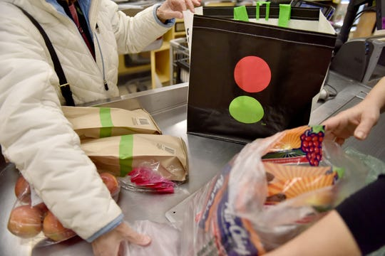 The Stop & Shop store, in Ridgewood, is providing reusable bags to its first 300 customers on New Years Day, which is the first day of the single use plastic bag ban in the village.