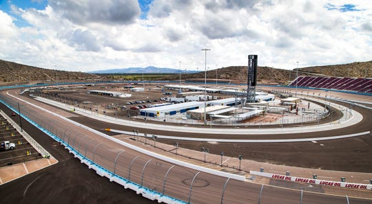 The infield has been completely rebuilt as part of the renovation of ISM Raceway in Phoenix.