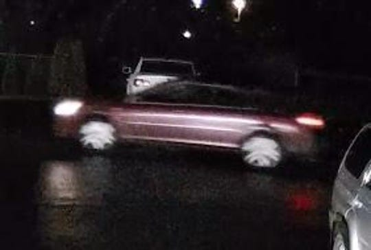 Police are seeking information on a vehicle involved in a hit-and-run crash.