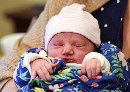 Gwen Faye Brummel is born as the first baby of the new year on Wednesday, Jan. 1, 2020 at Sanford Hospital in Sioux Falls.