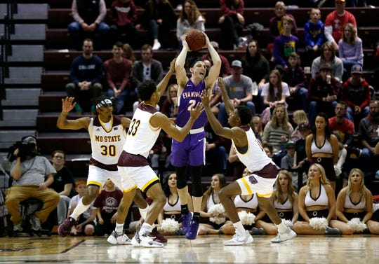 The Missouri State Bears take on the Evansville Purple Aces at JQH Arena on Tuesday, Dec. 31, 2019.