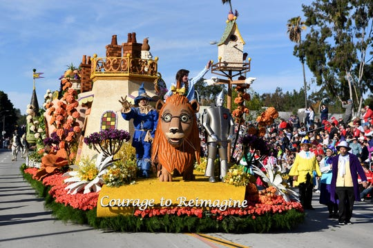 The Kaiser Permanente float wins the Wrigley Legacy Award at the 131st Rose Parade in Pasadena, Calif., Wednesday, Jan. 1, 2020. (AP Photo/Michael Owen Baker)