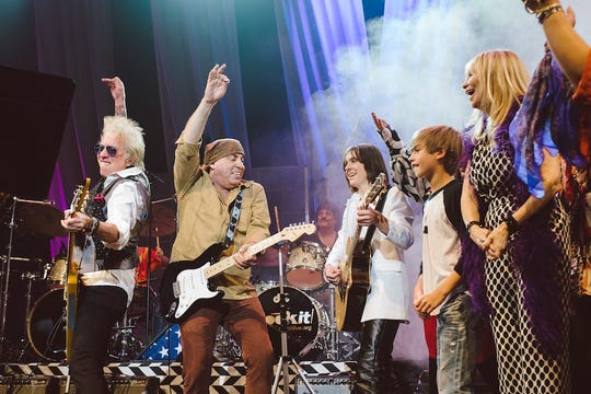Ricky Byrd, from left, Steven Van Zandt, Carmine Appice and Maureen Van Zandt perform with Rockit students in 2015.