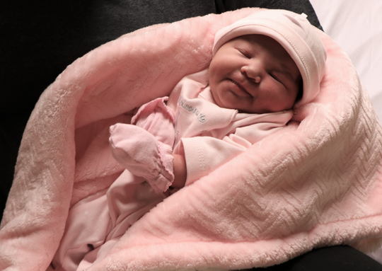 Aliana was born almost 11 hours into the new year at Abilene Regional Medical Center.