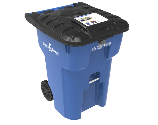 When needed, Waste Pro will distribute bear-resistant trash bins like this one manufactured by Rehrig Pacific Co. The cans cost $300.
