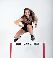 Hannah Angel is a hurdler on the Franklin track team.