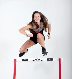 Hannah Angel is a hurdler on the Franklin track team.