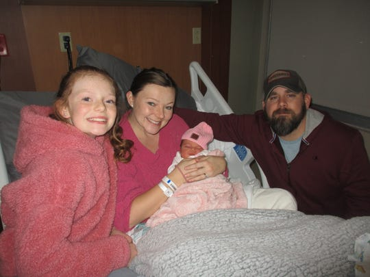 Mallory Mooney was born Jan. 1 at 1:42 a.m. She is the daughter of Lindsey and Luke Mooney, of Binghamton, and sister of 12-year-old Makenzi.