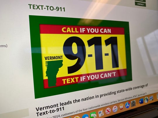 Vermonters can text 911 when unable to make a phone call