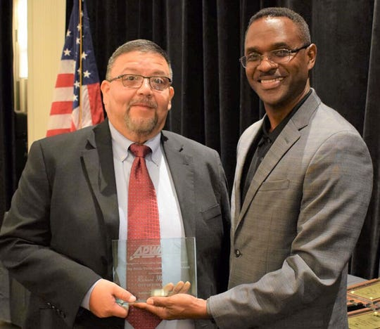 Richard Martinez, left, was named Top Public Works Leaders of the Year in 2019 when he was the assistant director in the Transportation & Public Works Department in Fort Worth. He has been named the new director of the city of Corpus Christi's Public Works/ Street Department on Thursday.