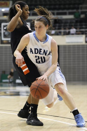 Adena's Jenny Grigsby gets around the defense of Ironton during a Division III district final at Ohio University's Convocation Center in 2013. Grisgby was a first-team All-Southeast District selection by the Associated Press.