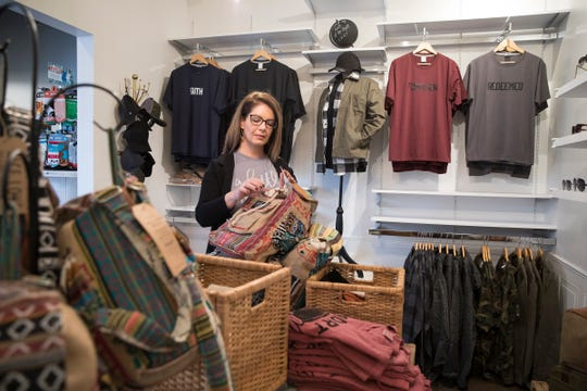 Many of the items sold in Deidre's boutique Kindly involve locally crafted items and social awareness products.