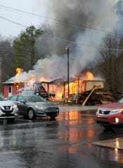 Papa's Old Fashioned BBQ of Erin, where the smokehouse and storage area caught on fire, Dec. 29, 2019.