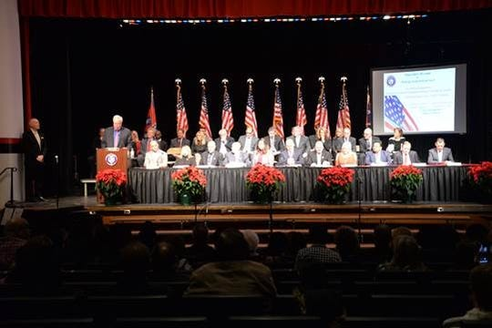 Woodbridge Mayor John E. McCormac was officially sworn-in to his fourth term as Mayor at the annual Municipal Council Reorganization Meeting on Wed., Jan. 1, 2020 at the Woodbridge High School Inaugural ceremonies.