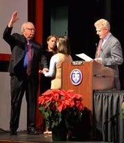 U.S. Rep. Frank Pallone, Jr. administered the Oath-of-Office to Woodbridge Mayor John E. McCormac on Jan. 1. McCormac, joined by wife, Tami , and daughter, Erin, was sworn-in for the start of his fourth four-year term as Woodbridge Township's Chief Executive Officer.