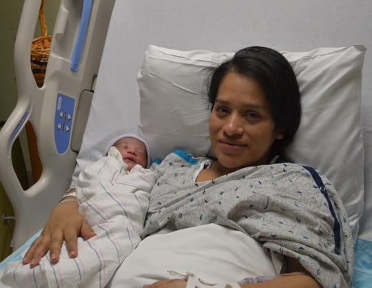 Alisson Yohana Colaj, Somerset County's first baby of the year,  and her mother Maria Mateo.