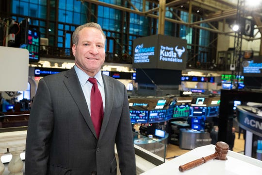 Mainstay Capital Management's CEO David Kudla at the New York Stock Exchange to ring the closing bell in January 2020.
