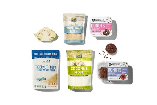 Flour alternatives include Tigernut and Cauliflower and products that use them is a food trend for 2020.