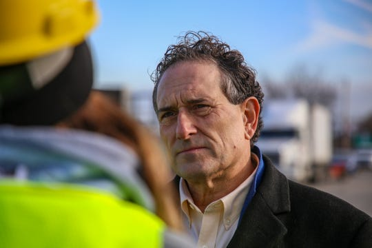 Rep. Andy Levin, of Michigan's 9th Congressional district, stops by to check on the progress being made at the now-closed Electro-Plating Services plant near I-696 freeway in Madison Heights on Thursday, Jan. 2, 2020.
