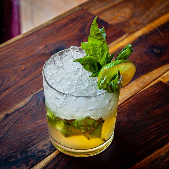 Hazel's June & Tonic  with house made  juniper tonic, cucumber, lime and mint.