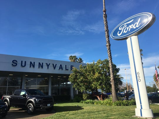 The Sunnyvale Ford dealership in Sunnyvale, California.