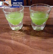 The I-696 Green Ooze shot is $4.50 at Max Dugans Bar in Hazel Park.