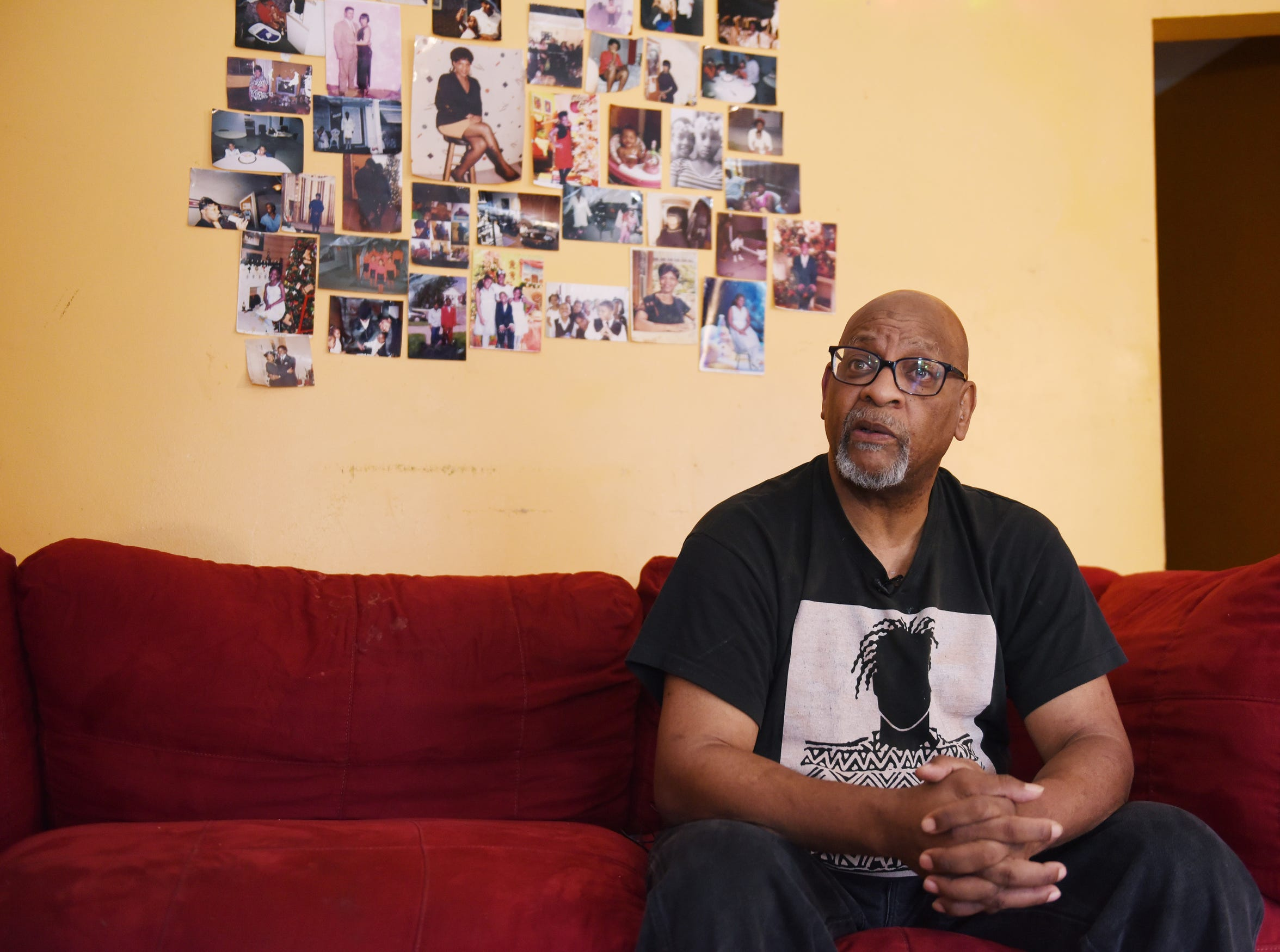 Breck Stevenson, 61, sits in the living room of his east-side Detroit bungalow and talks about how the City of Detroit overtaxed him. Stevenson was overtaxed by $5,300, more than the $4,200 he currently owes in back taxes on the home.