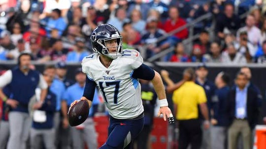 Titans quarterback Ryan Tannehill is playing in his first playoff game after eight seasons and 100 games played in the NFL.