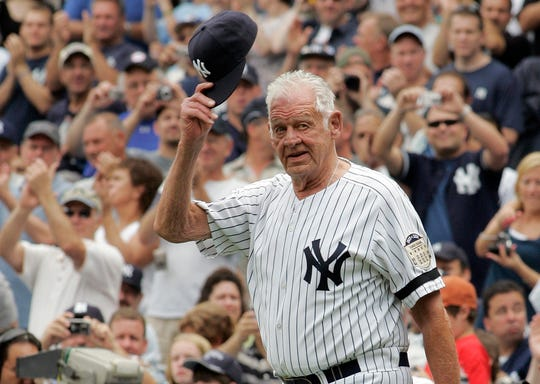 Don Larsen, the journeyman pitcher who reached the heights of baseball glory in 1956 for the Yankees when he threw a perfect game and the only no-hitter in World Series history, died Wednesday night.