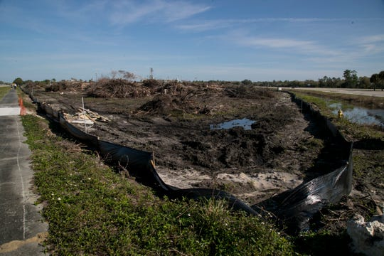 Land is being cleared for a new entertainment, conference center and hotel at the corner of Plantation Road and Six Mile Cypress Parkway in south Fort Myers.
