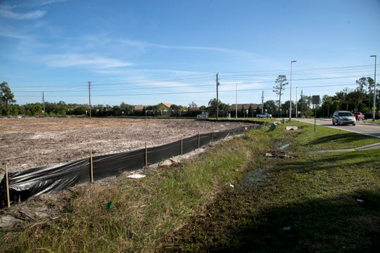 A lot has been cleared off Plantation Road in Fort Myers.