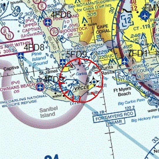 A temporary airspace restriction notice for VIP movement has been issued for Fort Myers and Sanibel Island Thursday, a move that usually denotes the vice president is coming to town.
