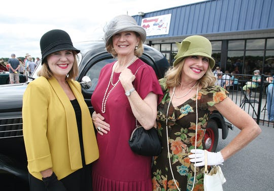 Dawn Wells, Dee Dyenson and Deryl McKinney (left to right) were at the Chautauqua reenactment of the 1931 visit of Amelia Earhart to Greenville at the Greenville Downtown Airport.