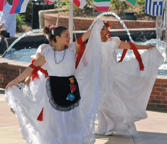 Mexican dancers entertain the crowd at the Greer International Festival.