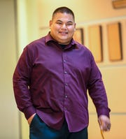Former Department of Corrections officer Edward Crisostomo arrives at the Guam Judicial Center for his sentencing hearing in Hagåtña on Thursday, Dec. 26, 2019. Crisostomo on Thursday received a suspended sentence and won't have to spend any more time in prison after pleading guilty to receiving bribes and drug possession.