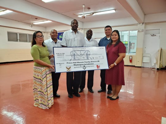 "The Prince Hall Masonic Family, District 8, Washington Jurisdiction, kicked off its second annual ""Stop Bullying"" campaign in support of Andersen Middle School, Agueda I. Johnston Middle School, Oceanview Middle School, and V.S.A. Benavente Middle School."