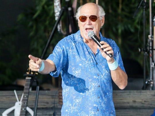 Jimmy Buffett  is seen during a 2018 performance at Ruoff Music Center.