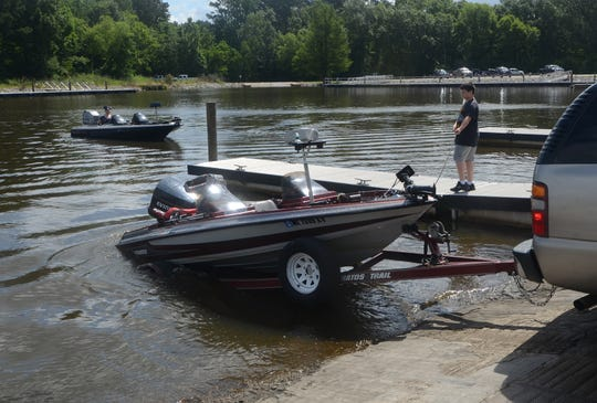 Barnett Reservoir officials are urging boaters to use Madison and Goshen Springs landings as low water has forced the closure of multiple boat launches.