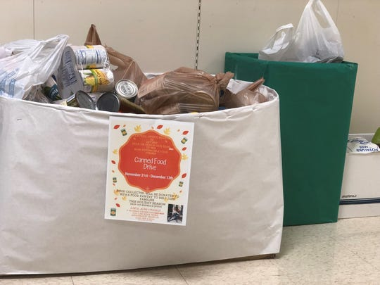 The JMCSS central office staff held a canned food drive for the system's students. The food will be given back to RIFA, which has a Snack Backpack program for students who need meals over the weekend.