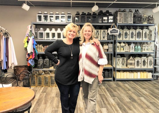 Kristy Myers, owner of Margaret Claire Weddings & Events, pictured left, has partnered with Dodie Strzelski, owner of The Bee's Knees bakery to expand her wedding and event planning business. Pictured here in her Fountain City offices on Jan 1, 2020.