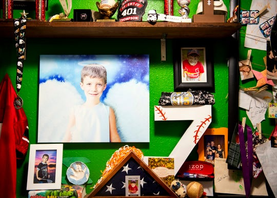 A memory wall made for Zakiah Satterfield at the Satterfield home in Maryville on Thursday, January 2, 2019.