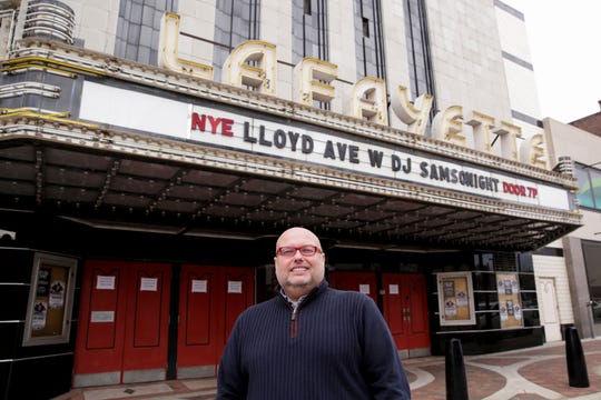 John Hughey, executive director of the Long Center, poses for a photo outside the Lafayette Theater, Thursday, Jan. 2, 2020 in Lafayette.