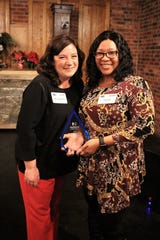 Sadie Polk (right) was named the Human Resources Professional of the Year for Acadiana.