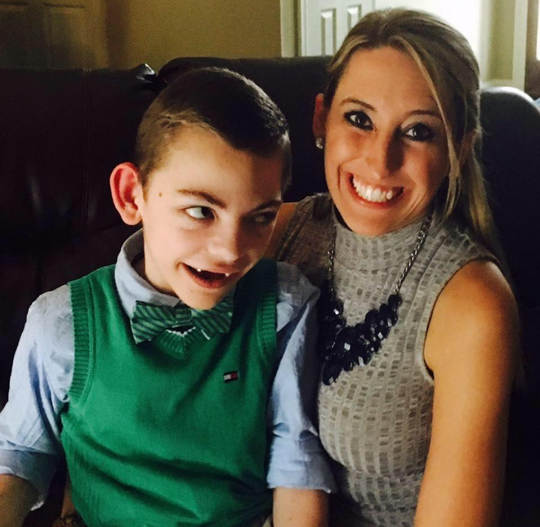 Katie Corkern and son Connor Corkern celebrate the legalization of medical marijuana in 2016.